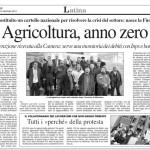 13 gennaio 2012 - Agricoltura, anno zero