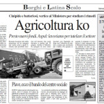14 giugno 2011 - Agricoltura KO