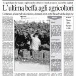 28 febbraio 2012 - L'ultima beffa agli agricoltori