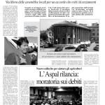 26 marzo - L'Aspal rilancia: moratoria sui debiti