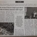 20 Gennaio - Il gelo rovina il lavoro degli agricoltori. Il grido di dolore lanciato dall'Aspal