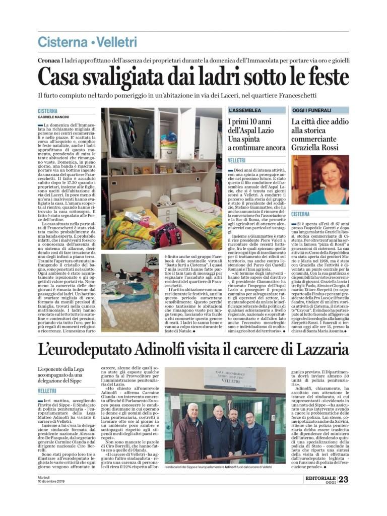 10 dicembre - I primi 10 anni dell'Aspal Lazio. Una spinta a continuare ancora