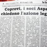 16 novembre 2013 - Co.Pro.Vi, i soci Aspal chiedono azione legale