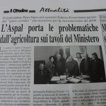 12 luglio 2014 - L'Aspal porta le problematiche dell'agricoltura sui tavoli del Ministero