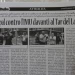 26 giugno - L'Aspal dice no all'Imu davanti al Tar del Lazio