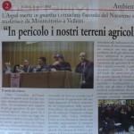 11 marzo - In pericolo i nostri terreni agricoli