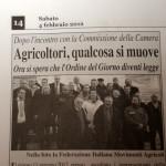4 febbraio 2012 - Agricoltori, qualcosa si muove