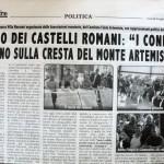 """8 luglio 2011 - Parco dei Castelli Romani: """"I confini restino sulla cresta del Monte Artemisio"""""""