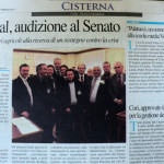 31 marzo 2011 - Aspal, audizione al Senato