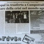 Ottobre 2010 - L'Aspal in trasferta a Camporeale per parlare della crisi nel mondo agricolo
