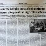 30 giugno 2012 - Tavolo di confronti con l'Assessore Regionale all'Agricoltura Birindelli