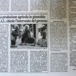 2011 - Per l'a produzione agricola in ginocchio, l'Aspal chiede l'intervento del Governo
