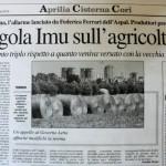 18 maggio - Tegola Imu sull'agricoltura