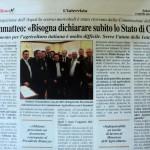 """2 aprile 2011 - Giammatteo: """"Bisogna dichiarare subito lo Stato di Crisi"""""""