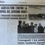 30 dicembre 2011 - Gli agricoltori contro la manovra del Governo Monti