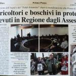 3 marzo 2012 - Agricoltori e boschivi in protesta ricevuti in Regione dagli Assessori