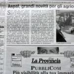 Settembre 2013 - ASPAL: grandi novità per gli agricoltori