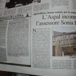 Febbraio 2014 - L'Aspal incontra l'assessore Sonia Ricci