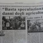 Maggio 2014 - Basta speculazioni ai danni degli agricoltori