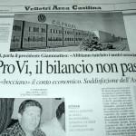 18 agosto 2013 - Co.Pro.Vi. Il bilancio non passa